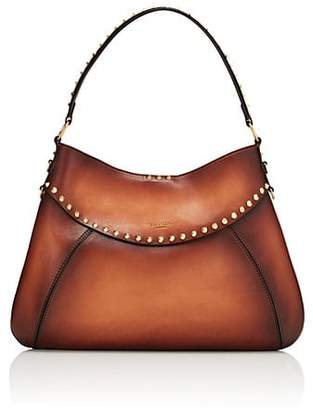 Valentino Women's Twinkle Studs Leather Hobo Bag - Brown