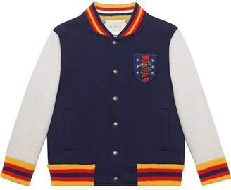 Gucci Kids Children's bomber jacket with crest