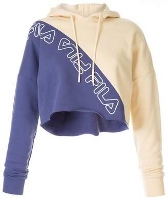 Fila bleached colour block hoodie