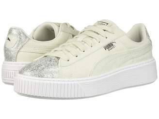 Puma Basket Platform Canvas Women's Lace up casual Shoes