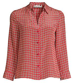 Alice + Olivia Women's Eloise Printed Button-Down Blouse
