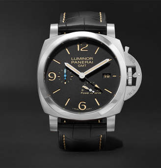 Panerai Officine Luminor 1950 3 Days Acciaio 44mm Stainless Steel and Alligator Watch