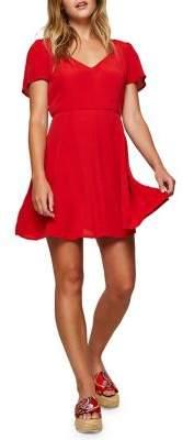 Miss Selfridge Lace Fit-&-Flare Dress