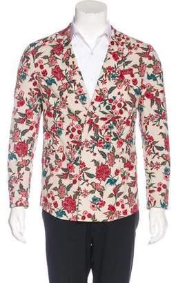 Gucci Floral Print Blazer