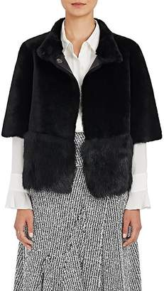 Barneys New York Women's Fur Crop Short-Sleeve Coat