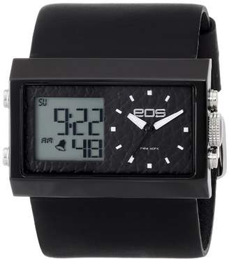 EOS New York Men's Quartz Metal and Leather Casual Watch