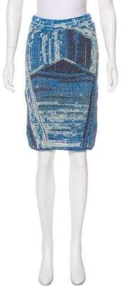 Rag & Bone Crochet Knit Knee-Length Skirt