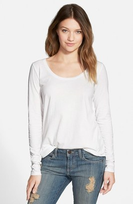 Junior Women's Bp. Scoop Neck Long Sleeve Tee $18 thestylecure.com