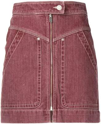 Etoile Isabel Marant zip front denim mini skirt