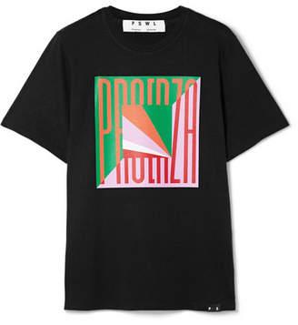 Proenza Schouler Printed Cotton-jersey T-shirt - Black