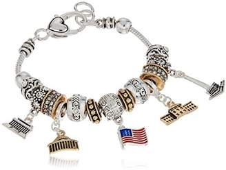 Silver Tone Washington D.C. -Charm Bracelet