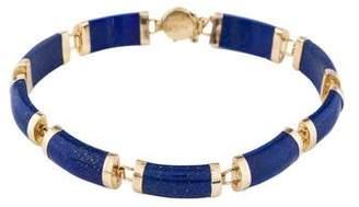 Lapis 14K Link Bracelet