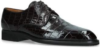 Brotini Crocodile Leather Derby Shoes
