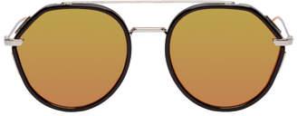 Christian Dior Black and Silver Dior0219S Sunglasses