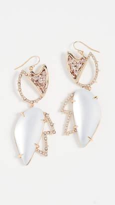 Alexis Bittar Crystal Encrusted Abstract Tulip Earrings