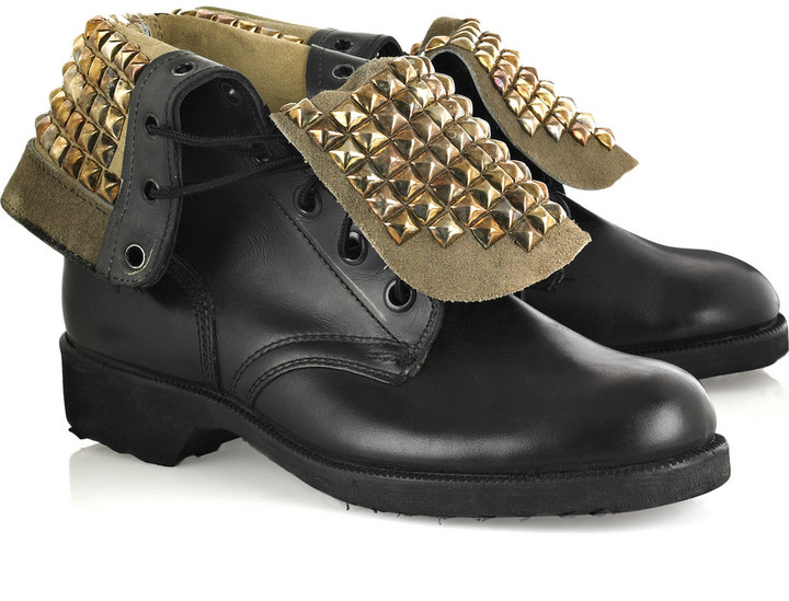 Bess Rollover vintage leather boots