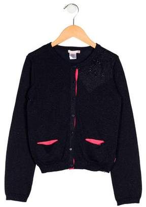 Billieblush Girls' Knit Embellished Cardigan