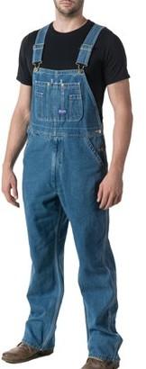 Big Smith Big Men's 100% Cotton Stonewashed Denim Bib Overall