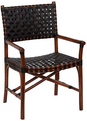 One Kings Lane Muli Rattan Armchair - Cocoa/Black