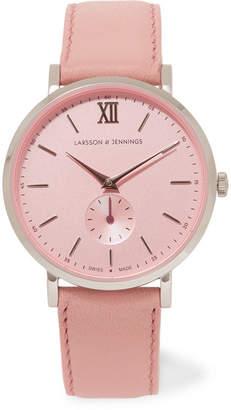 Larsson & Jennings Lugano II 皮革不锈钢手表