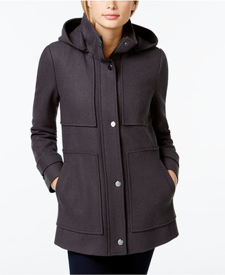 Kenneth Cole Seamed Hooded Babydoll Coat $225 thestylecure.com