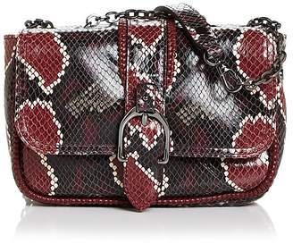 Longchamp Amazone Mini Convertible Python-Embossed Leather Shoulder Bag