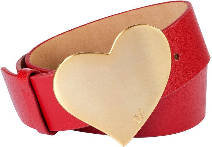 Diane von Furstenberg Red Leather Belt