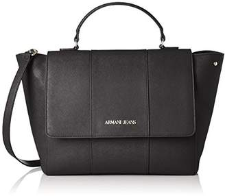 Armani Jeans Saffiano Large Top Handle Bag