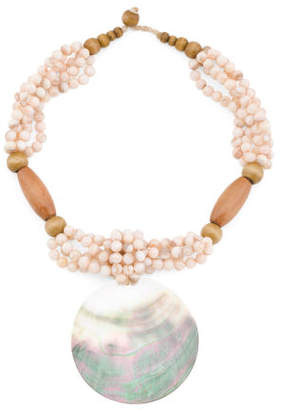 Pink Shell Beaded Abalone Necklace