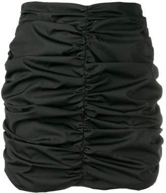 ATTICO ruched mini skirt