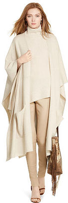 Polo Ralph Lauren Cashmere-Silk Poncho Cardigan $698 thestylecure.com