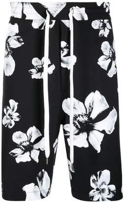 Neil Barrett floral print shorts