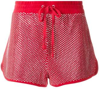 Juicy Couture Swarovski embellished velour shorts
