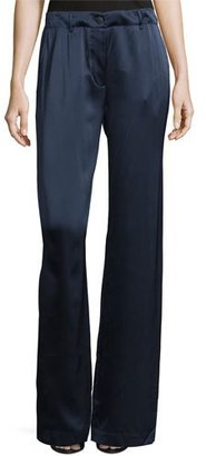 Elizabeth and James Gavin Wide-Leg Drawstring Pants, Royal $395 thestylecure.com