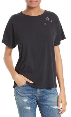 Women's Rag & Bone/jean Embroidered Star Cotton Tee $95 thestylecure.com
