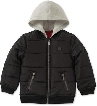Calvin Klein Baby Boys Layered-Look Hooded Bomber Jacket