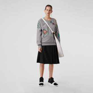 Burberry Embellished Jersey Sweatshirt
