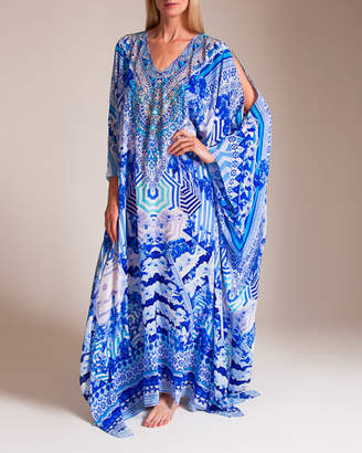 Camilla Throwing Shade Split Front and Sleeve Kaftan