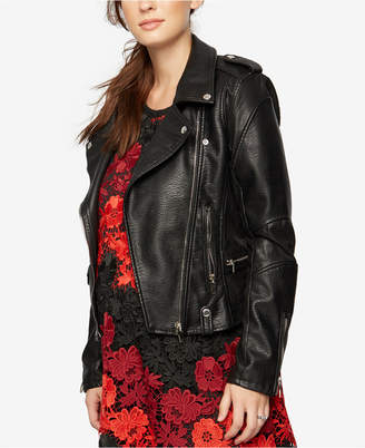 Blank NYC Maternity Faux-Leather Jacket