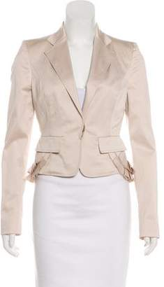 Gucci Peplum-Accented Structured Blazer w/ Tags