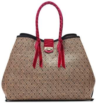 Jimmy Choo Marianne XL raffia and tote