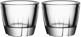 Kosta Boda Set of 2 Bruk Anything Tumblers - Clear