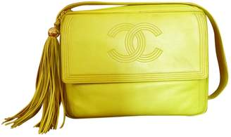Chanel Vintage Camera Yellow Leather Handbag