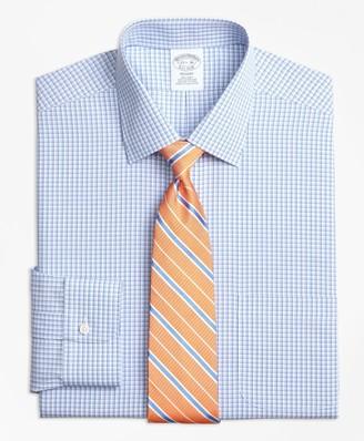 Brooks Brothers Regent Fitted Dress Shirt, Non-Iron Tonal Sidewheeler Check