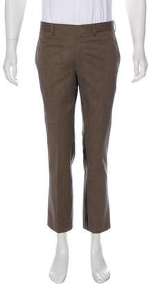 Hermes Leather-Trimmed Cropped Pants