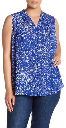 Vince Camuto Print Shell (Plus Size)