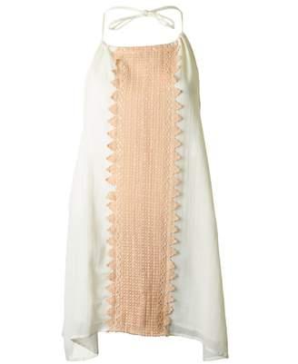 SUNDRESS Jena Strappy Pom Pom Tunic Colour: Off White, Size: M-L