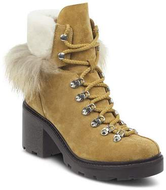 Sigerson Morrison Women's Naia Round Toe Suede Hiker Boots