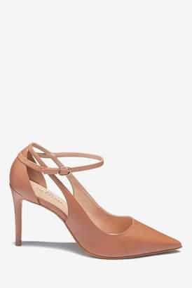 Next Womens Tan Signature Cut-Out Court Shoes