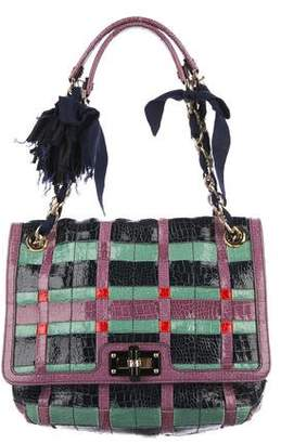 Lanvin Embossed Woven Leather Happy Bag